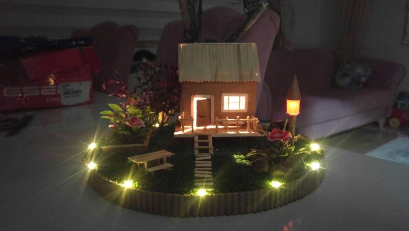 Minyatür Bahçeli Ev El Yapımı