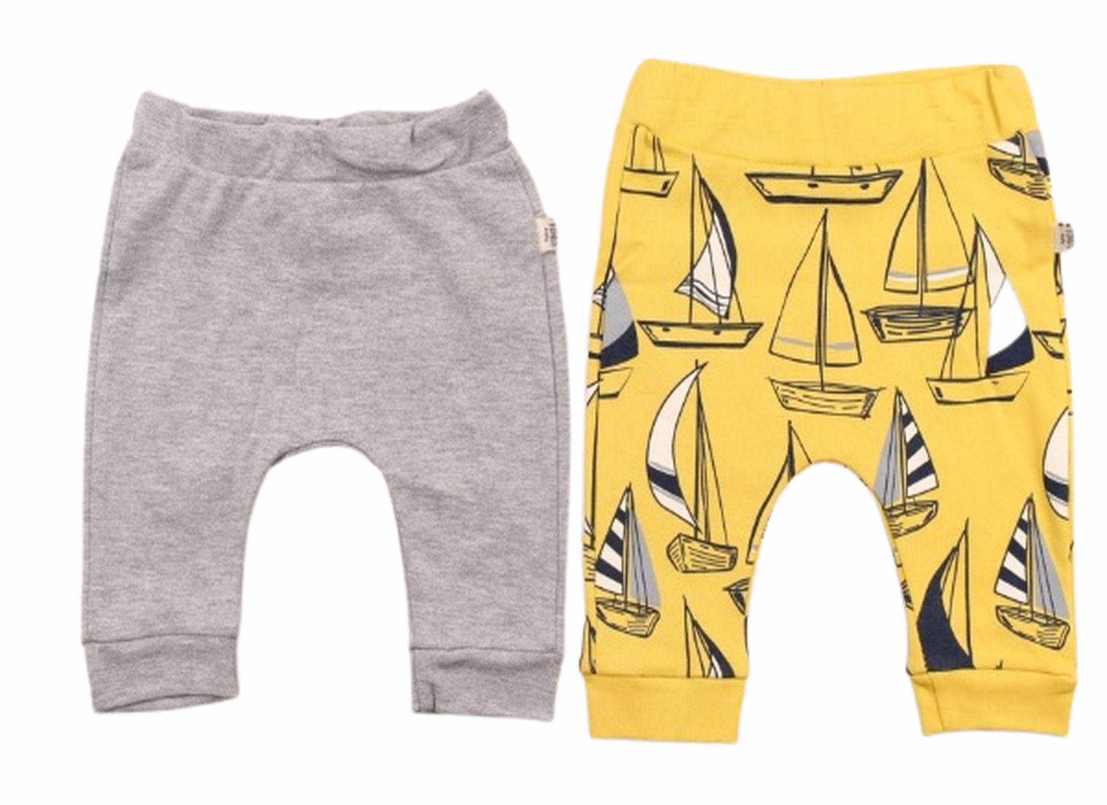 Tongs Baby Yelkenli Gemi Baskılı Penye Pijama Alt 2'li Set