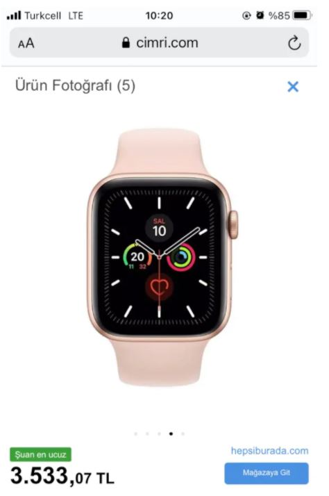 Apple Watch 5 44mm Rose Gold