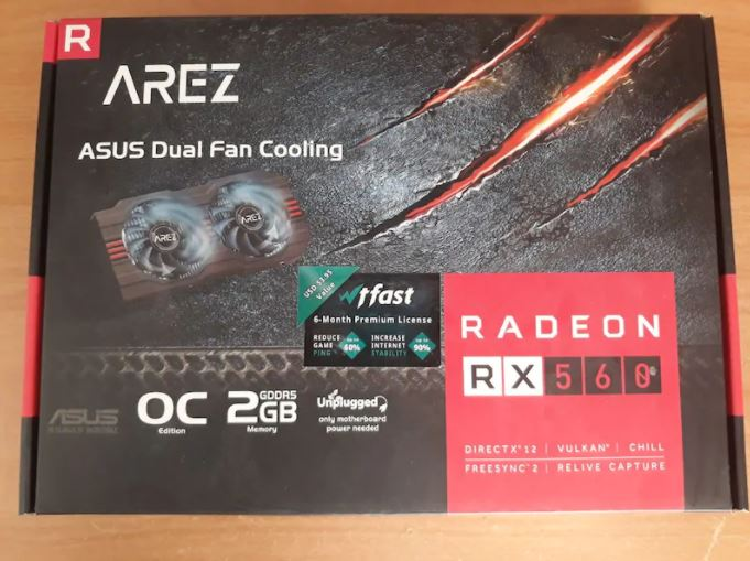 Arez Radeon Asus RX560 Ekran Kartı