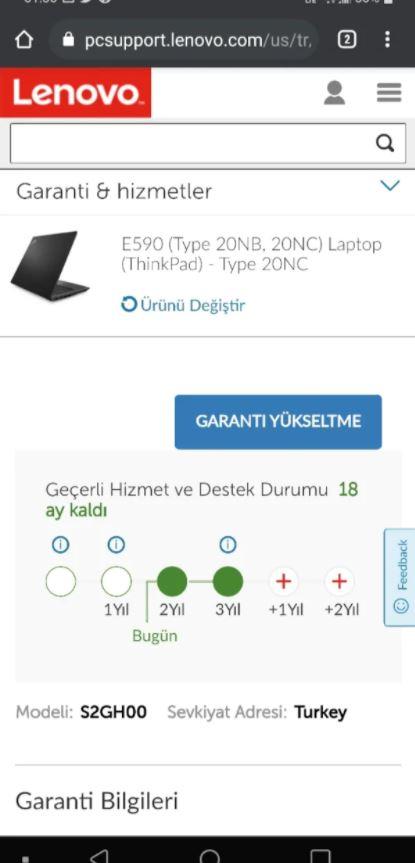 Lenovo E590 Taşınabilir Laptop Bilgisayar