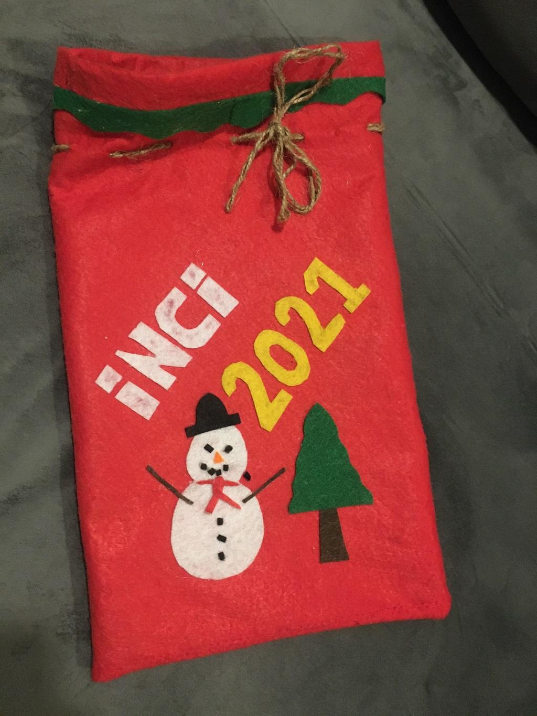 Yılbaşı Noel Baba Hediye Çuvalı Çantası