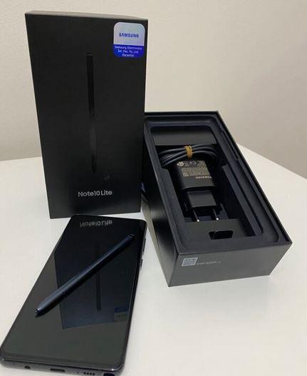 Samsung Note 10 Lite Siyah Garantili