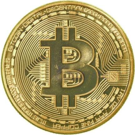 Bitcoin Madeni Para Altın Renk