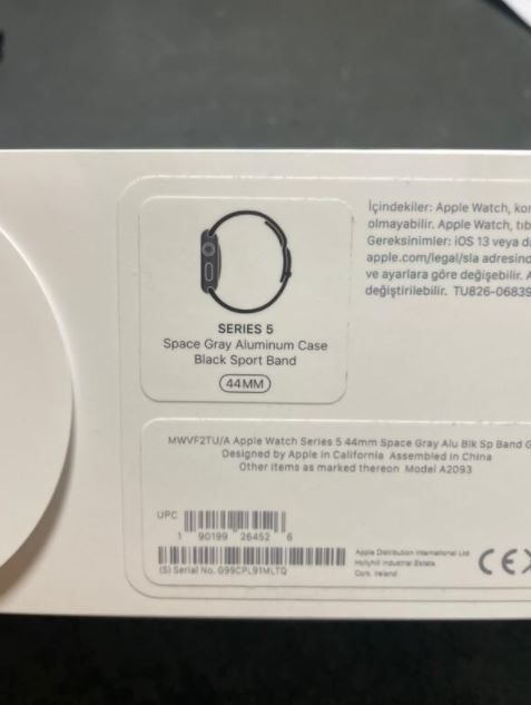 Apple Watch 5 44mm Uzay Gri