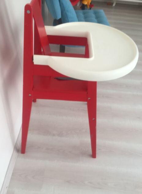 ikea Ahşap Bebek Yemek Sandalyesi Masası