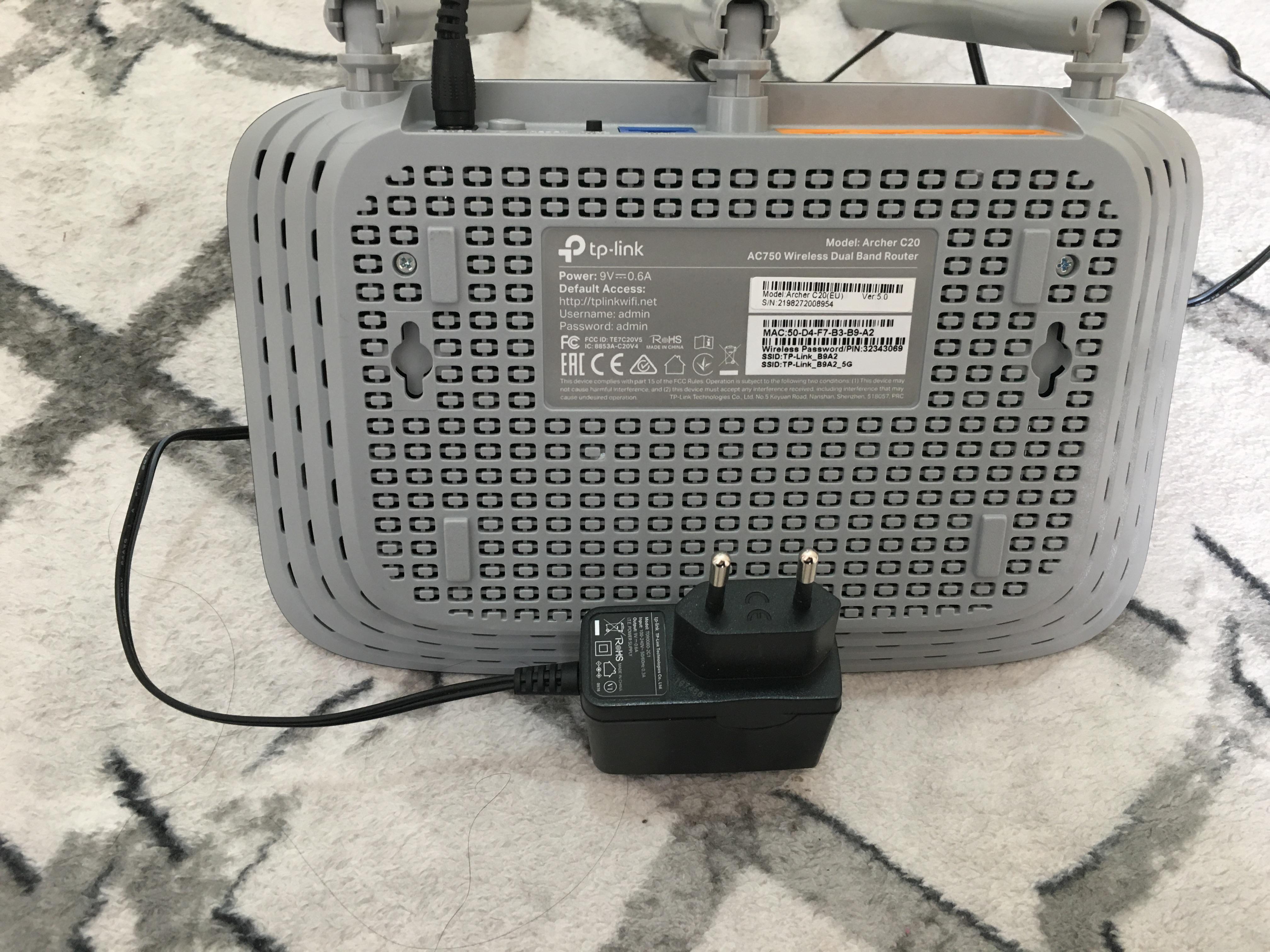 TP-Link Archer C20 AC750 AP Router WiFi Modem